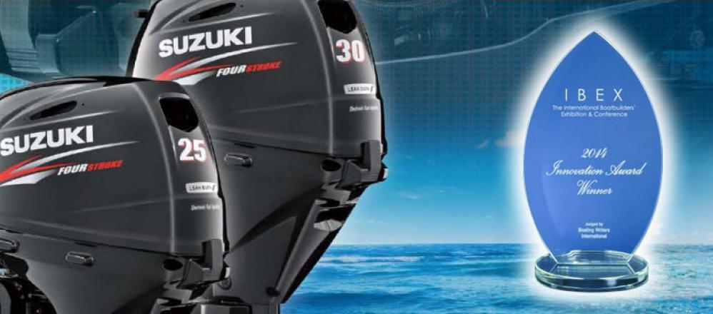 A Suzuki DF25A/30A hajómotorok nyerték el az innovációs díjat a 2014-es Ibex Show-n